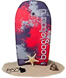 Boogie Board 33 Bodyboard - Durable Fiberclad Deck with Phuzion Core and Leash - Choose Your Graphics (Tidal Splatter, Red/Black)