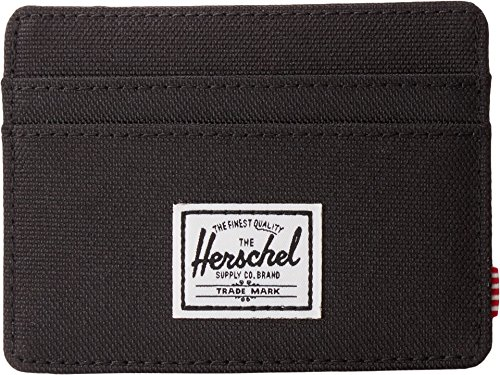 Herschel Men's Charlie RFID Wallet, Black, One Size (Card Business Holder Herschel)