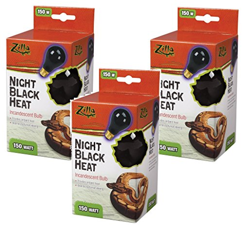 Zilla Night Black Incandescent Bulb 150 Watt (3 Pack)
