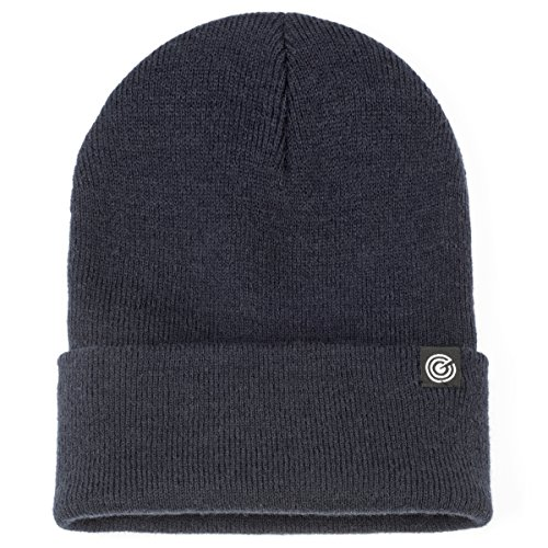 Revony Cuffed Beanie for Men & Women - Soft, Warm Knit - 10 Colors (Navy) ()