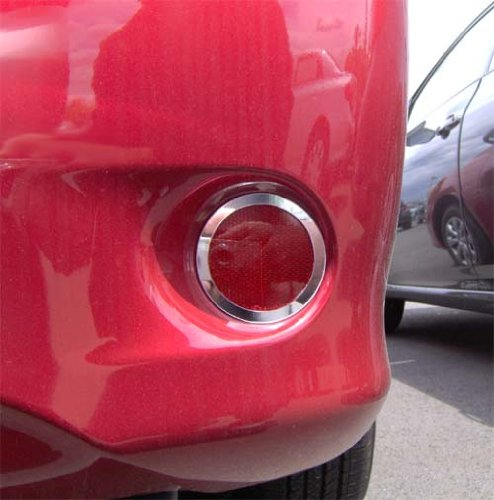 Rear Bumper Marker Chrome Trim Rings Fit 2009-2010 Toyota Corolla