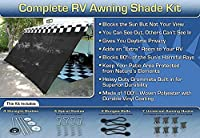 EZ Travel Collection RV Awning Shade Complete Kit (Black)