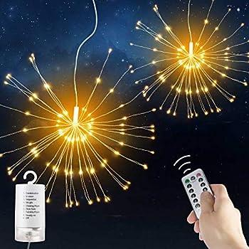 Amazon Com Led Fairy String Light Starburst With Remote