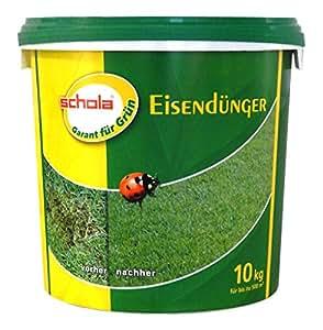 Schola Hierro Fertilizante Césped abono leñosas Césped Rododendros 10kg
