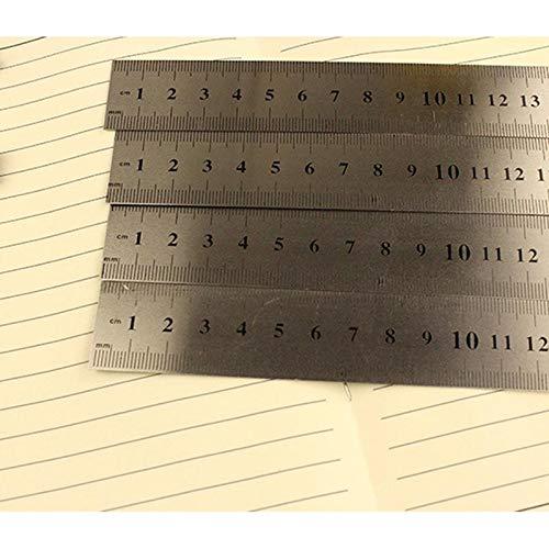 Vommpe R/ègle r/ègle en Acier Inoxydable R/ègle en Acier Inoxydable R/ègle /à Double Face /échelle Pr/écision Outil de Mesure de Bord Droit 15cm 20cm 30cm 3pcs
