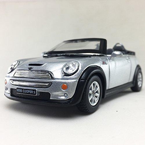 Convertible Collectible (Mini Cooper S Convertible, Silver Color Kinsmart 1:28 DieCast Model Toy Car Hobby Collectible)