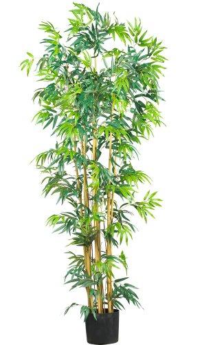 Nearly Natural Silk Artichoke - Nearly Natural 5214 Bambusa Bamboo Silk Tree, 6-Feet, Green