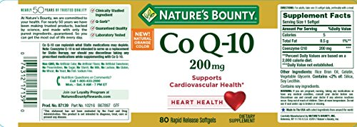 Nature039s Bounty Co Q-10 200 mg 80 Rapid Release Softgels Discount