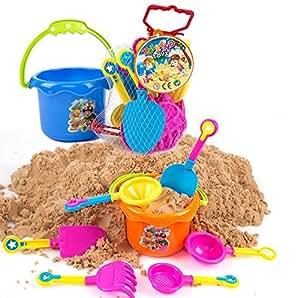 Beauty DIY Mart 9Pcs Juguetes de Playa Arena, Castillo Cubo Juguetes Accesorios Baño Piscina para Bebé/ Niños (Color al Azar )