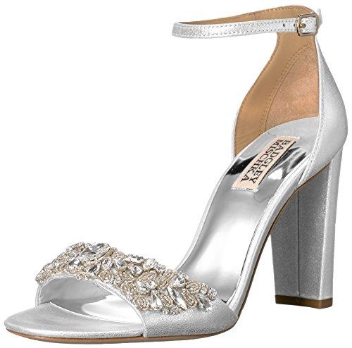 Badgley Mischka Women's Barby Dress Sandal - Silver - 7.5...