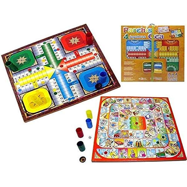 Parchis Oca 40x40cm Tablero Con Fichas: Amazon.es: Juguetes y juegos