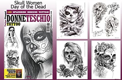 Amazon Com Day Of The Dead Skull Women Tattoo Flash Design Book 66 Pages Health Personal Care See more ideas about book tattoo, tattoos, literary tattoos. day of the dead skull women tattoo flash design book 66 pages