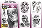 Day of the Dead Skull Women Design 66-page Tattoo Flash Book