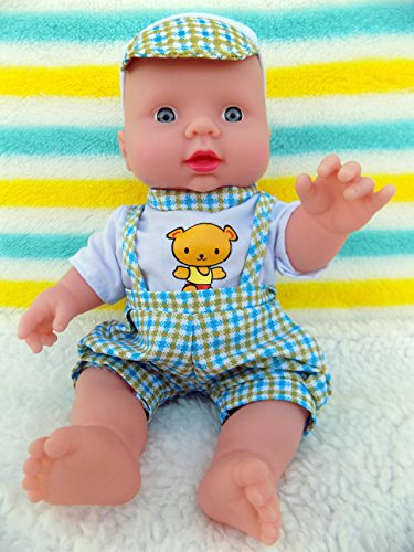 "Baby Boy Cute Real Life Doll 10"" Inches Fruit Scented Blue Eyes 6 Sounds Clothes Talking Toy Fun Play Vivid Press My ()"
