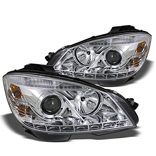 Xtune for 2008-2011 Mercedes-Benz W204 C-Class Projector LED Headlights Lamp New Set Pair Left+Right/2009 2010
