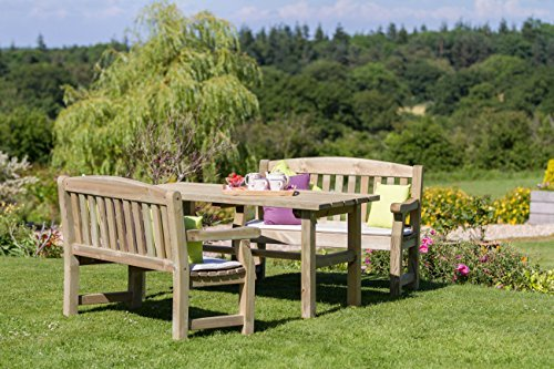 Holz-Landhaus Stil-Tisch und Bank für den Garten, Extra Stühle und Tisch passend zur ihrer set-Natürliches Holz-finish Gartenmöbel-set, druckbehandelt, langlebigem Holz-einfache Montage., Set