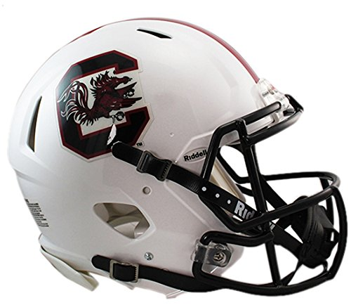 Riddell Sports NCAA South Carolina Fighting Gamecocks Speed Authentic Helmet, White -