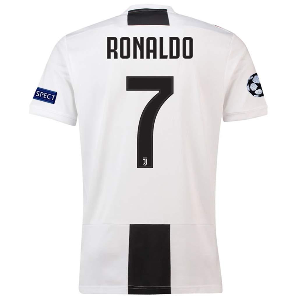 reputable site 0a70f 47261 brave Yang Juventus 2018-2019 Season #7 Ronaldo Men's Home Soccer Jersey  White/Black