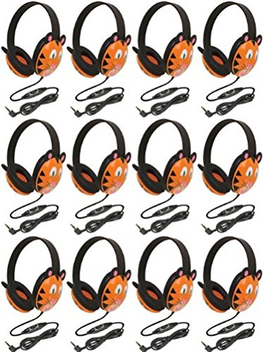 Califone 2810-TI Listening First Stereo Headphone, Tiger Motif - Pack of 12