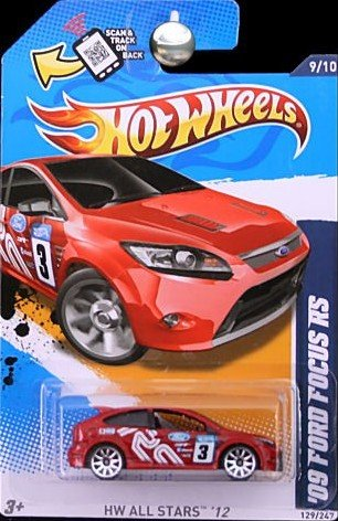 Hot Wheels - HW All Stars '12 - '09 Ford Focus RS - 9/10 , 129/247 [Scale 1:64] 09 Wheel