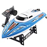 Leegor UDI 002 RC 2.4GHz 4-Channels Wireless Remote Control High Speed Boat With Water Cooling System Brushed Motor (Blue)