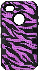 MyBat iPhone 4s/4 TUFF eNUFF Hybrid Phone Protector Cover - Retail Packaging - Purple/Black