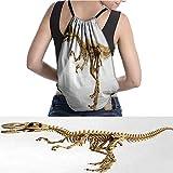 "warmfamily Waterproof Backpack Fossil Dino Skeleton Bones Realistic Ima 11.8""x15.3"""
