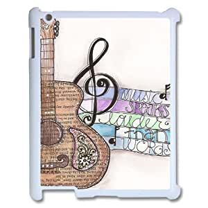K-G-X Phone case For Ipad 2/3/4 Case Case-Pattern-8 Love Music Protective Back Case