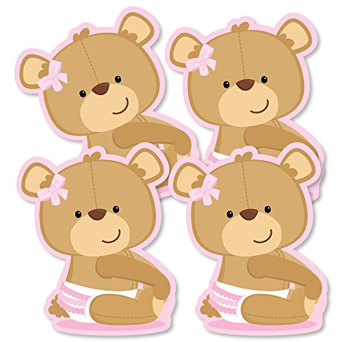 Baby Girl Teddy Bear - Decorations DIY Baby Shower Party Essentials - Set of 20 -