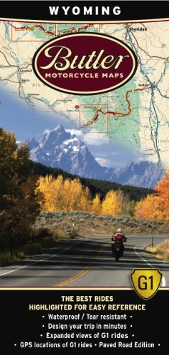 Maps Including - Butler Maps G1 Wyoming Motorcycle Map,