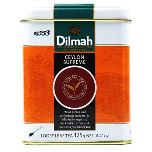 Dilmah Ceylon Supreme Tea Loose Leaf Tea 125g - Finest Pure Ceylon Black Tea Box Sri Lanka Dilmah in Foil Pouch - 125g (4.4 oz)