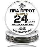 [RBA DEPOT] 100ft - 24 Gauge AWG KA1 FeCrAl Alloy Kanthal Resistance Wire A1
