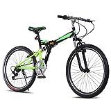 "Ancheer Mountain Bike 26"" Wheels 7 speed Folding Dual-Suspension Mountain Bicycle"