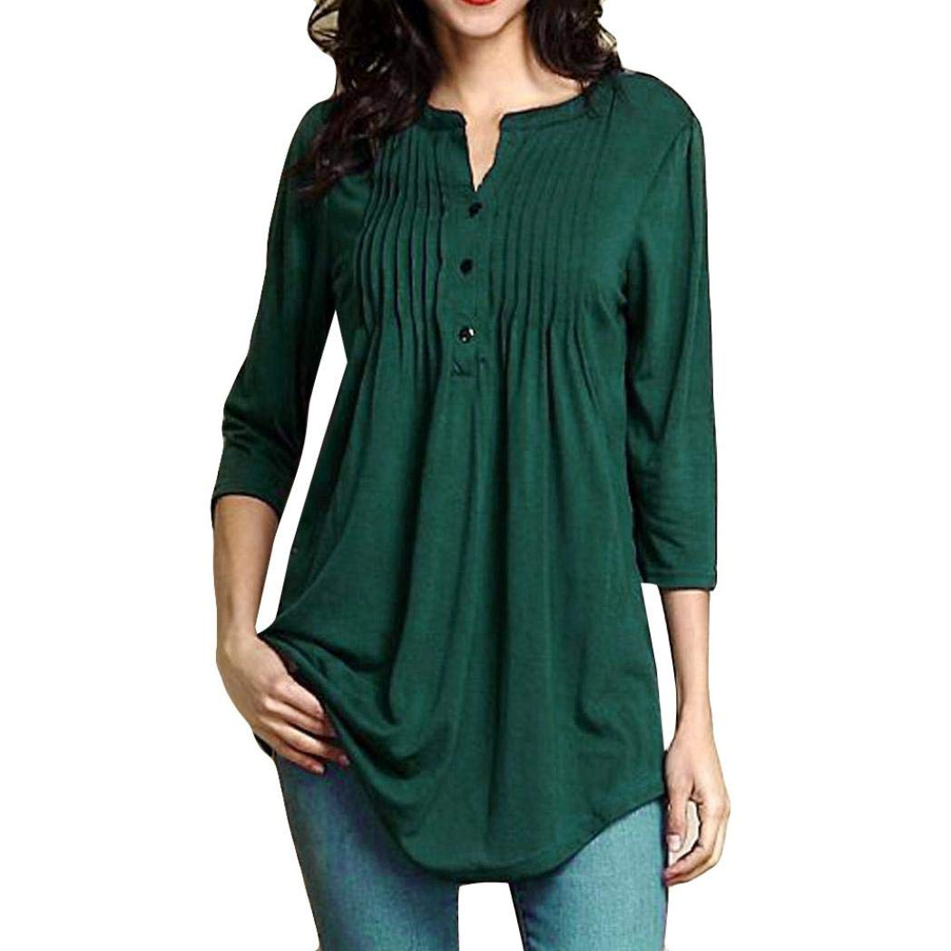Women's Long Sleeve Shirts Solid Color Casual Blouse Tunic Tops Changeshopping Changeshopping Blouse changeshirt242