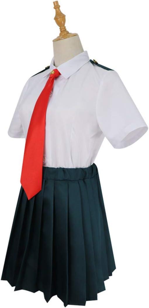 ZY Juego De Anime Disfrazado Camisa Blanca Falda Anime Halloween Carnaval Uniforme Escolar Uniforme Escolar Conjunto Completo,Full Set-M: Amazon.es: Hogar