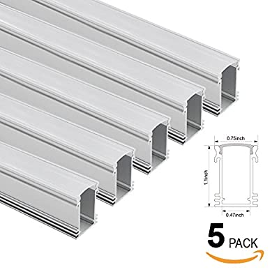 3.3ft Aluminum Channel - LED Aluminum Extrusion for Recessed/Suface Mounted with flex/hard LED Strip Light