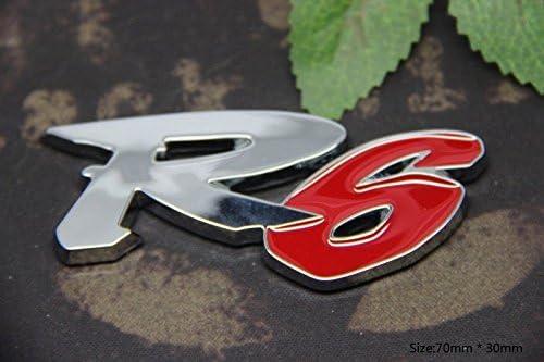D297 R6 auto aufkleber 3D Emblem Badge top Plakette Abzeichen car Sticker PKW