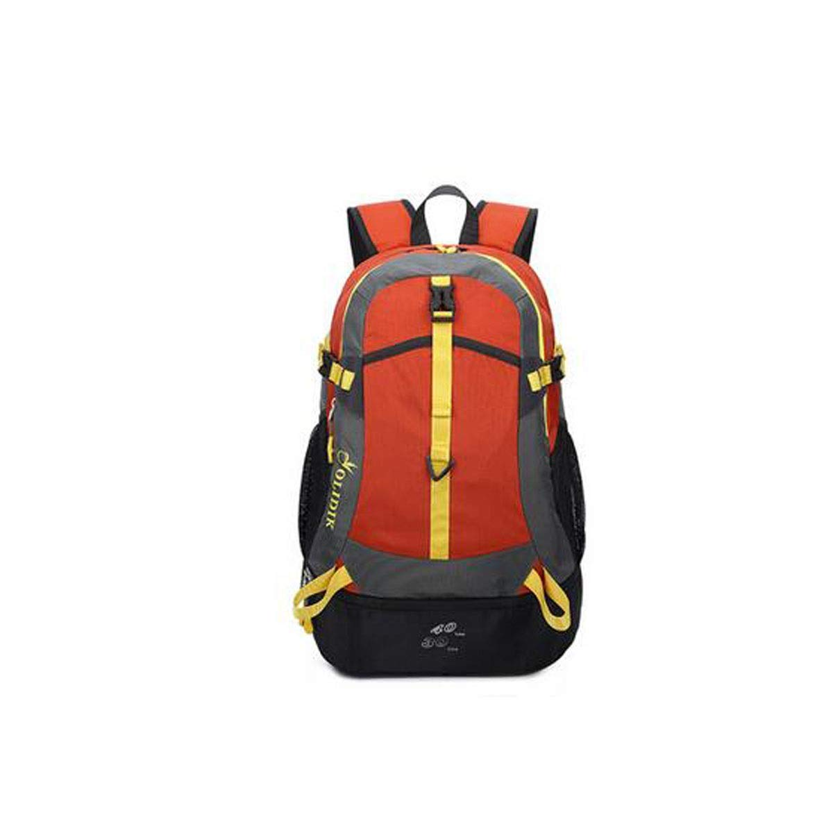 Chenjinxiang01 30-40L Stylish Casual Large-Capacity Backpack Outdoor Waterproof Ultra-Light Travel Backpack Color : Large Orange