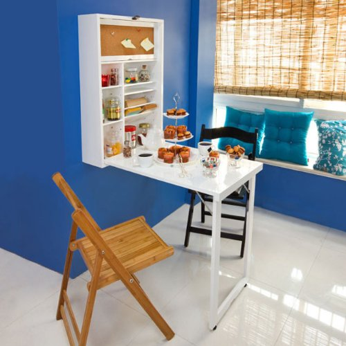 SoBuy Wall mounted Drop leaf Table Folding Kitchen Dining Table