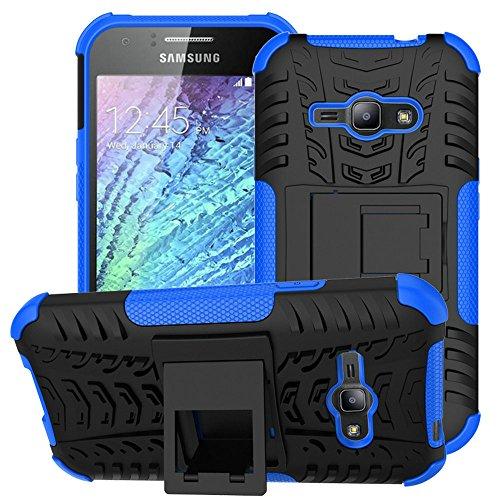 Galaxy J1 Ace Case,Samsung Galaxy J1 Ace Case,EMAXELER Creative Hybrid Case for Samsung Galaxy J1 Ace,Heavy Duty Rugged Dual Layer Case with kickstand for Samsung Galaxy J1 Ace--Blue
