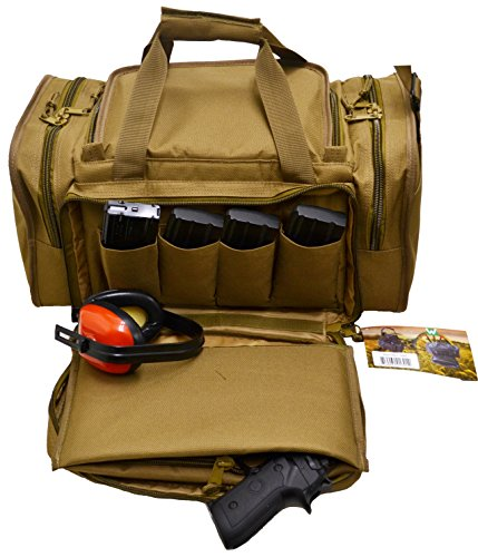 Explorer Large Padded Deluxe Tactical Range Bag – Rangemaster Gear Bag (R2-Tan3)