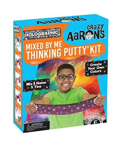Crazy Aaron's Thinking Putty, Mixed By Me Thinking Putty Kit, Holographic