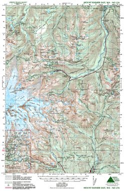 Green Trails Maps, Mt Rainier East - Park National Trail Mt Rainier