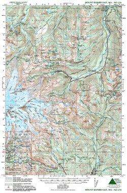 Green Trails Maps, Mt Rainier East 270