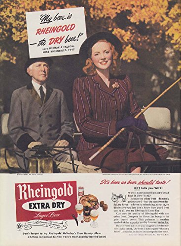 Miss Rheingold Beer Michaele Fallon ad 1947 NY Central Park horse - Horses Central Park