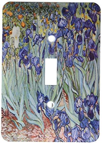 3dRose lsp_46958_1 Van Gogh Irises Iris, Flower, Flowersanniversary, Wedding Anniversary, 25Th Anniversary, Faith Light Switch (Iris Light Switch Covers)