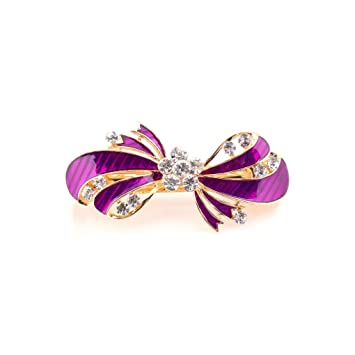 Easya Red Blue Gray White Crystal Butterfly Hairpins Hair Accessories Jewelry Women Girls Fashion Rhinestone Insect Hairgrips Hair Jewelry Jewelry Sets & More