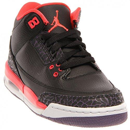 Nike Air Jordan 3 Retro Menns Hi Største Basketballtrenere 136064 Joggesko Sko Blck, Brght Rmsn-cnyn Prpl-pr