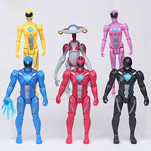Power Rangers Super Heros The Movie Character 6 PCS Action Figure Toy Kids Gifts (Red Sonja Costume)