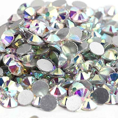 (Kamas 288pcs/lot, ss34 (7.0-7.3mm) crystal Multicolor Non Hotfix 3D Nail Art stones Flat back Rhinestones glass nail art decorations - (Color: ss34 Crystal)